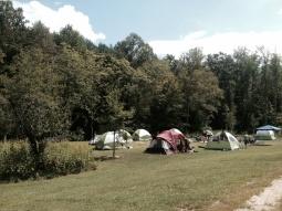 tents at Fall Camp