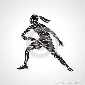female-player-playing-ultimate-frisbee-vector-black-silhouette-flying-disc-lineart-illustration-59593629